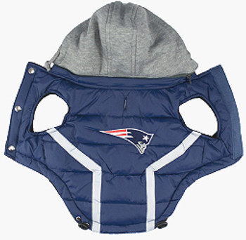 NFL New England Patriots Licensed Dog Puffer Vest Coat  S - 3X