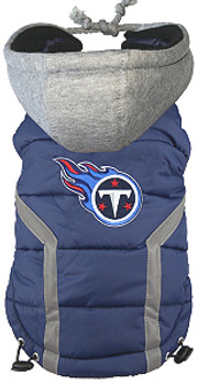 NFL Tennessee Titans Licensed Dog Puffer Vest Coat - S - 3X