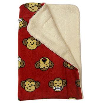 Red Silly Monkey Ultra-Plush Puppy Dog Blanket