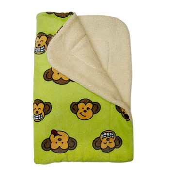 Lime Green Silly Monkey Ultra-Plush Puppy Dog Blanket