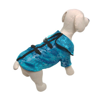 Chinese Royal Empress Satin Dog Jacket - Blue