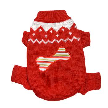 Candy Cane Bone Holiday Sweater Bodysuit
