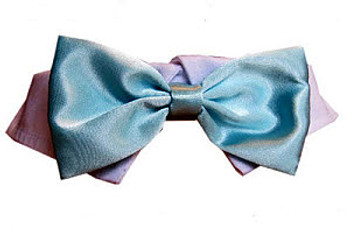 Dog Bow Tie - Aqua Satin