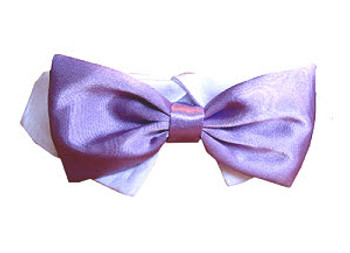 Dog Bow Tie - Lavender Satin