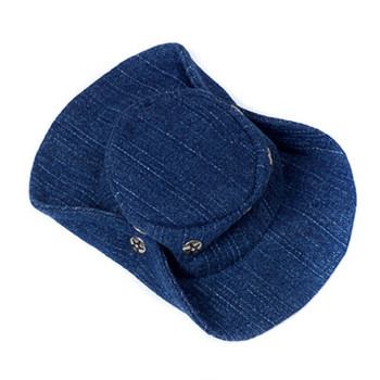 Blue Denim Cowboy Dog Hat