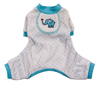 Blue Elephant Dog Pajamas