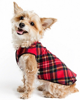 Gold Paw Fleece - Classic Red Plaid