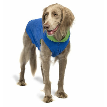 Cobalt Blue / Grass Duluth Double Fleece Dog Wrap