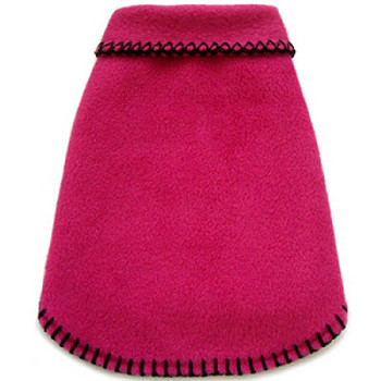 Bright Bold Pink Fleece Pet Dog Pullover