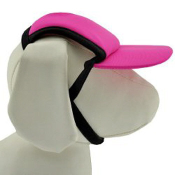 Fuchsia Pink Sun Protective Dog Visor Hats for Dogs