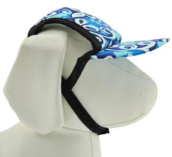Swirl Blue Sun Protective Dog Visor Hats for Dogs