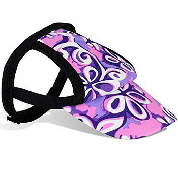 Floral Swirl Purple Sun Protective Dog Visor Hats for Dogs