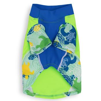 Paradise Green Tuga Sun Protective Lightweight Dog Shirt - Rash gard