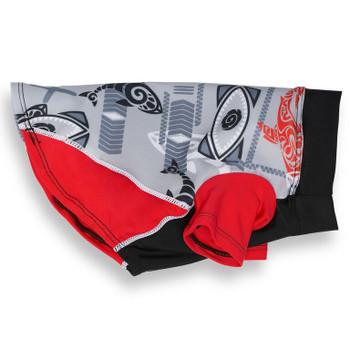 Tribal Shark Falcon Red Sun Protective Lightweight Dog Shirt
