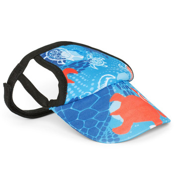 Flaming Blue Tuga Sun Protective Dog Visor Hats