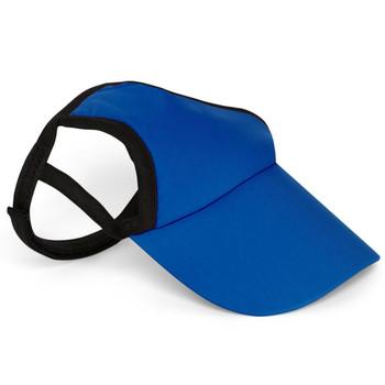Royal Blue Sun Protective Dog Visor Hats