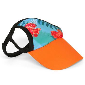 Tropical Floral Blue Sun Protective Dog Visor Hats
