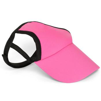 Pretty Pink Sun Protective Dog Visor Hats