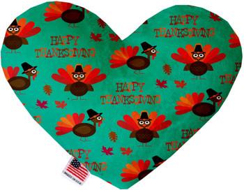 Happy Thanksgiving Heart Dog Toy, 2 Sizes