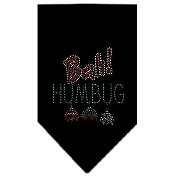 Bah Humbug Rhinestone Bandana - Black
