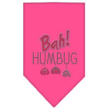 Bah Humbug Rhinestone Bandana - Bright Pink