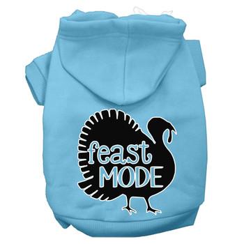 Feast Mode Screen Print Dog Hoodie Baby Blue