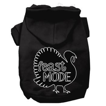 Feast Mode Screen Print Dog Hoodie Black