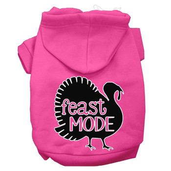 Feast Mode Screen Print Dog Hoodie Bright Pink