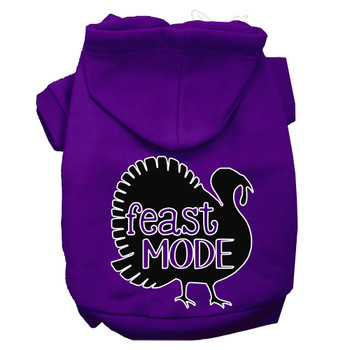 Feast Mode Screen Print Dog Hoodie Purple