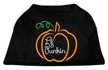 Lil Punkin Screen Print Dog Shirt - Black