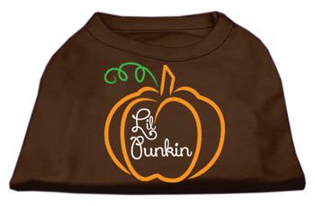 Lil Punkin Screen Print Dog Shirt - Brown