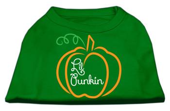 Lil Punkin Screen Print Dog Shirt - Green