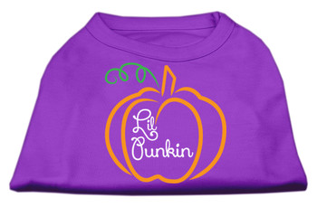 Lil Punkin Screen Print Dog Shirt - Purple