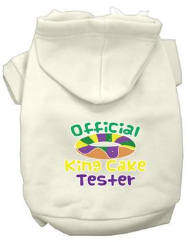 King Cake Taster Screen Print Mardi Gras Dog Hoodie - Cream