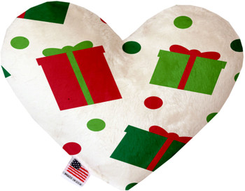 All The Presents! Canvas Heart Dog Toy. 2 sizes