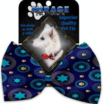 Blue Star Of David Pet Bow Tie - MIR-1288-VBT