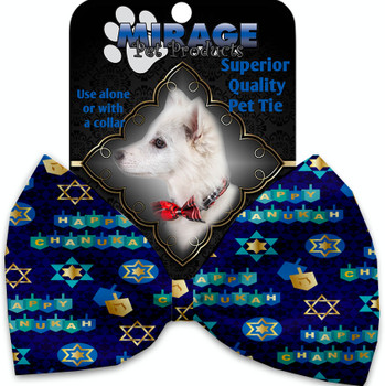Chanukah Bliss Pet Bow Tie - MIR-1293-VBT
