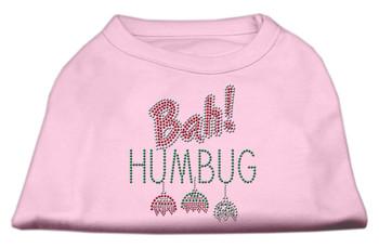 Bah Humbug Rhinestone Dog Shirt - Light Pink