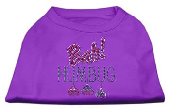 Bah Humbug Rhinestone Dog Shirt - Purple