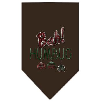 Bah Humbug Rhinestone Bandana - Brown - MIR-67-91 SMBR