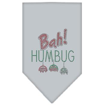 Bah Humbug Rhinestone Bandana - Grey - MIR-67-91 SMGY