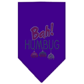Bah Humbug Rhinestone Bandana - Purple - MIR-67-91 SMPR