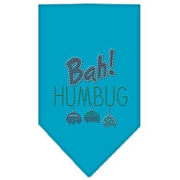 Bah Humbug Rhinestone Bandana - Turquoise - MIR-67-91 SMTQ
