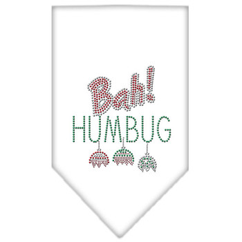 Bah Humbug Rhinestone Bandana - White - MIR-67-91 SMWT