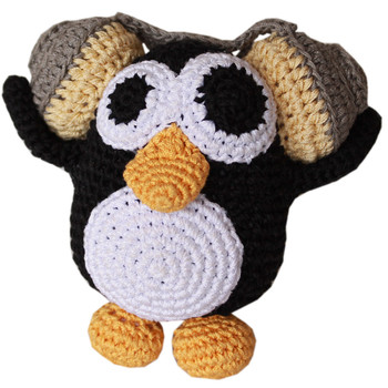 Knit Knacks Hipster Penguin Organic Cotton Small Dog Toy