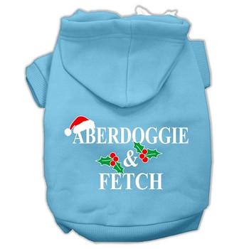 Aberdoggie Christmas Screen Print Pet Hoodies - Baby Blue