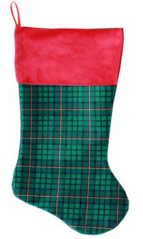 Green Plaid Christmas Stocking