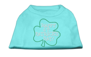 Happy St Patrick's Day Rhinestone Shirts - Aqua