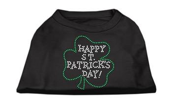 Happy St Patrick's Day Rhinestone Shirts - Black