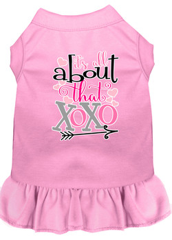All About The Xoxo Screen Print Dog Dress - Light Pink